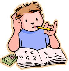 clipart of student doing homework